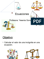 ecuaciones septimo