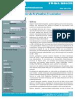 """Revista """"Entrelíneas de la Política Económica"""" n° 44"""