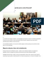 Congreso de Brasil Aprobó Juicio Contra Rousseff