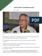 FMV 95 Porciento de Medicamentos Faltan en Hospitales Del País