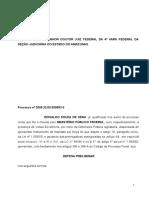 Defesa Prévia - Lei 9605 - Edivaldo Sena