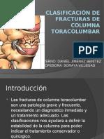 Clasificación de Fracturas de Columna Toracolumbar