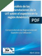 5G Americas Espectro en Latin America Abril 2016