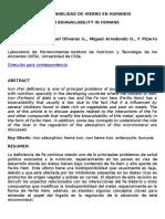 Biodisponibilidad de Hierro en Humanos