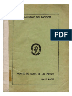 Kafka Folke, Apuntes de Teoría de los precios (1978)