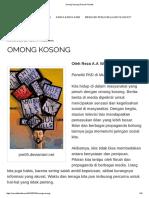 Omong Kosong _ Rumah Filsafat