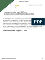 Astable Multivibrator Using 555 Timer