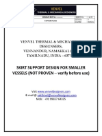 Skirt Design - For Small Vessels