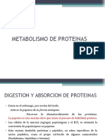 Sesion 5 Metabolismo de Proteinas