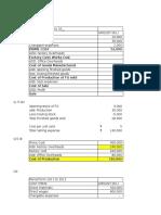 Cost sheet.xlsx