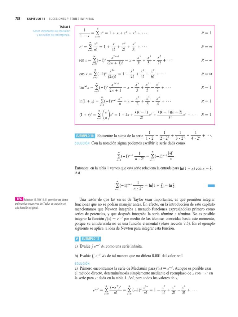 Tarea De Taylor Y Maclaurin 1 Series Matematicas Analisis Real