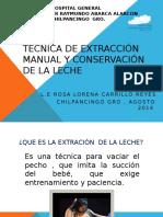 Técnica de Extracción y Conservación de La Leche (1)
