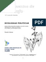 ECOLOGIAS POLITICAS