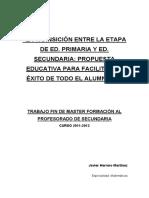 Javier Herrero Martínez Transicion Entre Primaria a Secundaria