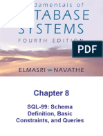 Chap8-SQL-99 Schema Definition, Basic Constraints, and Queries