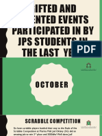 gifted and talented events participated in by  jps to end of april