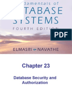 Chap23-Database Security and Authorization