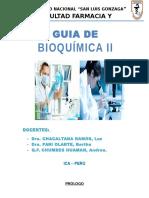 Guia BioquimicaII - Primer Parcial
