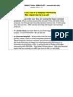 Hospital Pharmacy Call Checklist With Summary Updated Feb 09