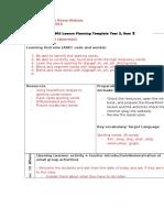 5 lesson plan monday 7 mar