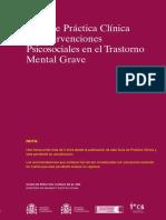 Guía de Práctica Clínica de Intervenciones en El Trastorno Mental Grave