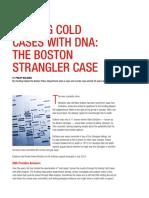 Solving Cold Cases With DNA Boston Strangler Case