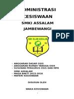 Admistrasi  KESISWAAN-2016