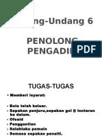 Undang-undang permainan 6 P.pengadil