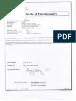 Certificados de Calibracion y Operatividad