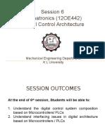 Mechatronics Session 6 Microcontroller n PLC