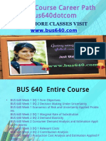 BUS 640 Course Career Path Begins Bus640dotcom