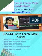 BUS 644 Course Career Path Begins Bus644dotcom