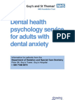 (a) Dental Health Psychology Service for Adults With Dental Anxiety