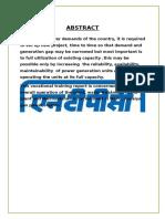 Report ntpc Shiv141118121