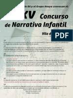 XXXV Concurso Narrativa Infantil 2016
