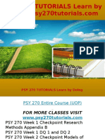 PSY 270 TUTORIALS Learn by Doing- Psy270tutorials.com