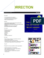 pre-correction sheet