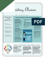 providing choices handout