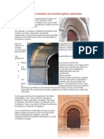 La persistencia del románico en el primer gótico valenciano
