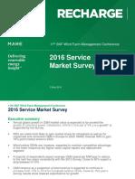 2016 Service Market Survey