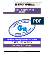 Network Theory Electrical GATE IES PSU Study Materials