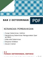 Alin 02 Determinan (Pertemuan 5-6)
