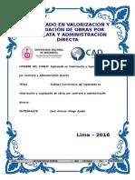 Exámen Sustitutorio de José Aliaga