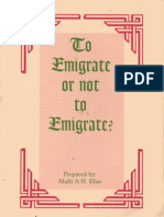 To Emigrate or not to Emigrate?
