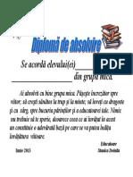 Diploma de Absolvire Gradinita