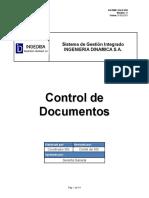 GO SMC SGI P 001 Control de Documentos