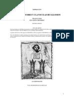 Claves Mayores y Claviculas de Salomon-eliphas Levi