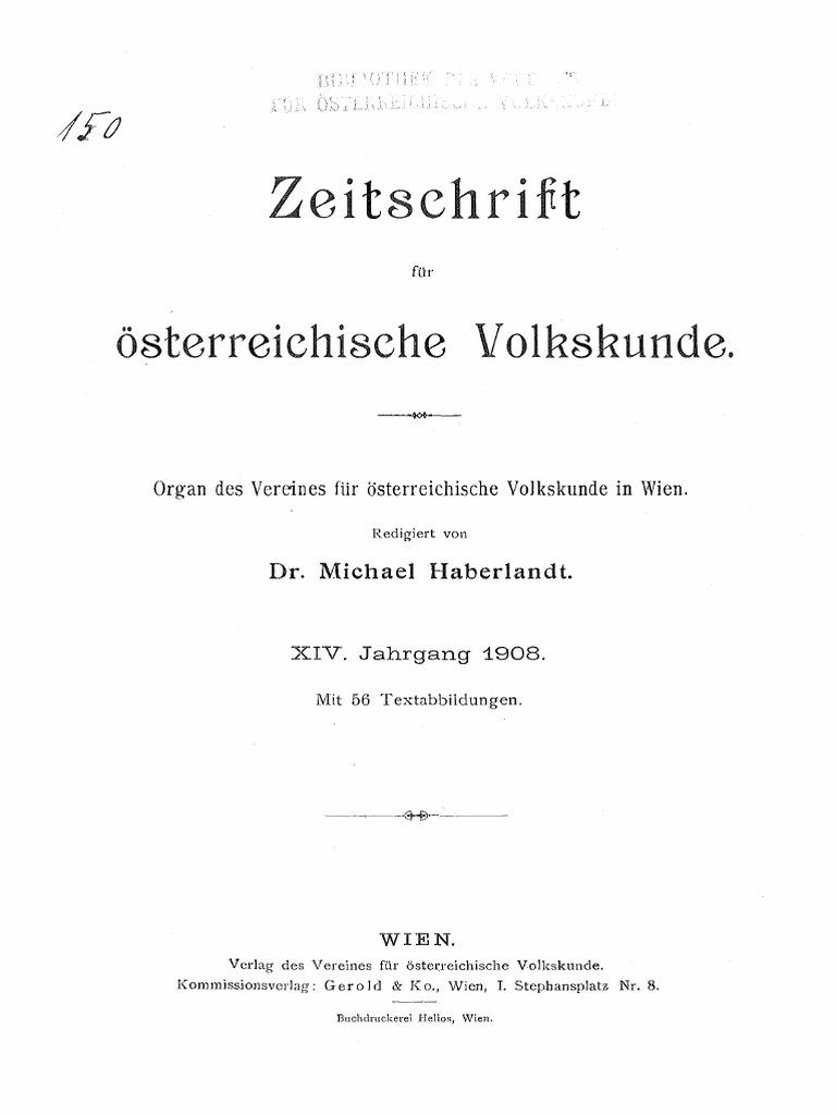 Zeitschrift für österreichische Volkskunde_1908