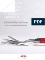 eBook La Legislacion Alimentaria y Su Aplicacion en La Industria Espanola I Ainia 2015