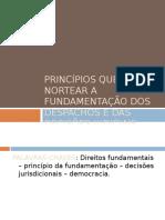 Principios de fundamentacao de decisoes judiciais